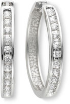JCPenney FINE JEWELRY & CT. T.W. Diamond Hoop Earrings