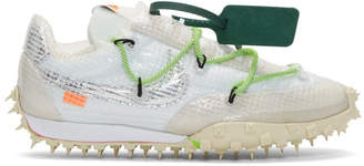 Nike White Off-White Edition Waffle Racer Sneakers