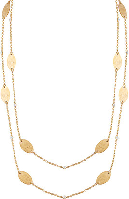 I. Reiss 14K 0.18 Ct. Tw. Diamond By-The-Yard 36In Necklace