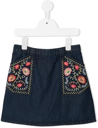 Velveteen Rhea A-line skirt