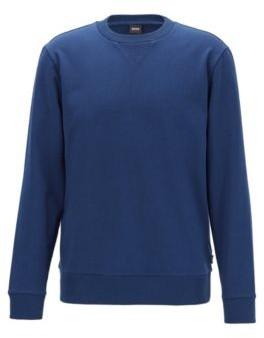HUGO BOSS Crew Neck Sweater In French Terry - Dark Blue