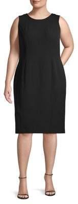Kasper Plus Sleeveless Shift Dress