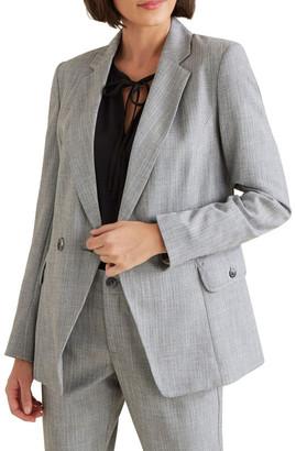 Seed Heritage Cross Dye Suit Blazer