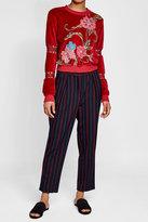 See by Chloe Embroidered Velvet Sweatshirt