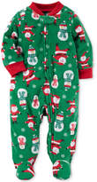 Carter's 1-Pc. Santa-Print Footed Coverall, Baby Boys