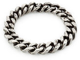 Werkstatt:Munchen Sterling Silver Curb Chain Tool Traces Bracelet