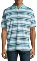 Peter Millar Plaza Striped Polo Shirt, Blue