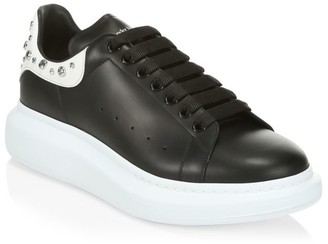 Alexander McQueen Men's Oversized Studded Leather Platform Sneakers