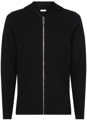 Sandro Paris Knitted Zip-Up Hooded Cardigan