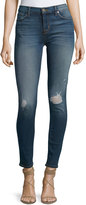 Hudson Nico Skinny-Fit Distressed Jeans, Medium Blue