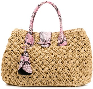 Ermanno Scervino Woven Straw Handbag