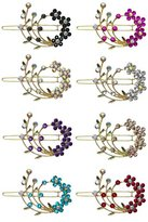 B.ella 8 Pack - 8 Barrettes with Snap On Clip for Thin Hair or for Young Girls U86200-2108-8