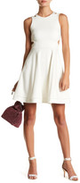 French Connection Lula Fit & Flare Cutout Dress
