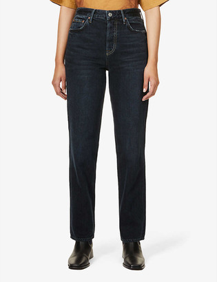 GRLFRND Helena mid-rise straight leg jeans