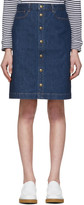A.P.C. Blue Therese Skirt