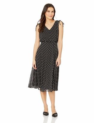 Jessica Howard JessicaHoward Women's Petite Sleeveless V-Neck Blouson Dress