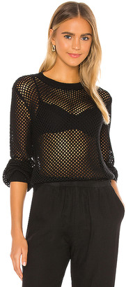 Monrow Open Knit Sweater