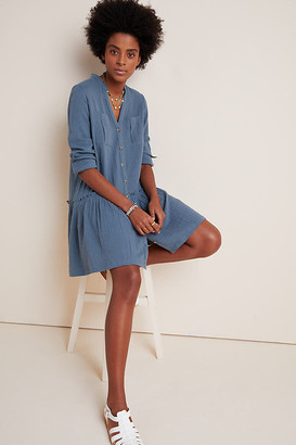 Maeve Katie Textured Utility Tunic By in Blue Size 6 p