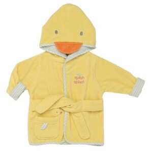 Little Me Classic Duck Baby Hooded Bathrobe