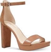 Nine West Dempsey Two-Piece Platform Sandals Women's Shoes
