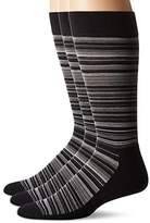 Hue Men's Multistripe Sock with Half Cushion 3-Pack