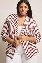 Forever 21 Plus Size Stripe Blazer