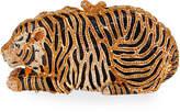 Natasha Accessories Limited Crystal Beaded Tiger Clutch Bag