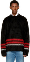 Loewe Black Striped Mohair Sweater