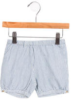 Bonpoint Girls' Striped High-Rise Shorts