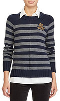Lauren Ralph Lauren Layered Bullion-Patch Sweater