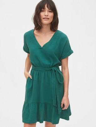 Gap Gauze Ruffle Hem Dress