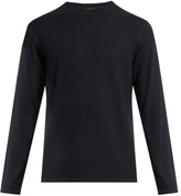 Vince Long-sleeved Cotton And Cashmere-blend Sweater