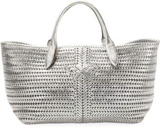 Anya Hindmarch The Neeson Woven Metallic Leather Tote Bag