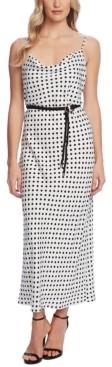 Vince Camuto Dot-Print Sleeveless Dress