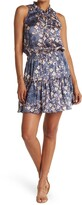 Thumbnail for your product : Love Stitch Floral Drop Waist Ruffled Mini Dress