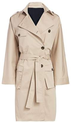 The Kooples Checkered Trench Coat