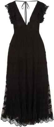 Ulla Johnson Fifi Embroidered Tulle And Voile Maxi Dress
