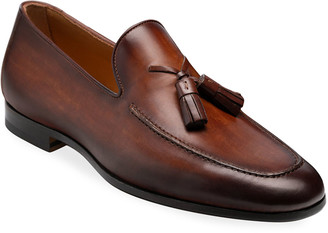 Magnanni Men's Super Flex Leather Tassel Loafers