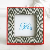 Graham and Green Bone Frame In Painted Diamond Print