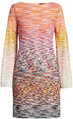 Missoni Bell Sleeve Space-Dye Knit Dress