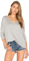 Bobi Light Weight Jersey V Neck Dolman Top