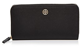 Tory Burch Robinson Leather Continental Zip Wallet