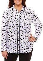 Liz Claiborne Framed Trim Shirt- Plus
