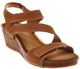 Clarks As Is Leather Adjustable Three Strap Wedge Sandals