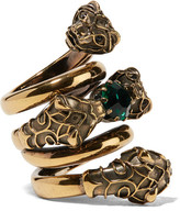 Gucci Gold-plated Swarovski Crystal Ring - 10