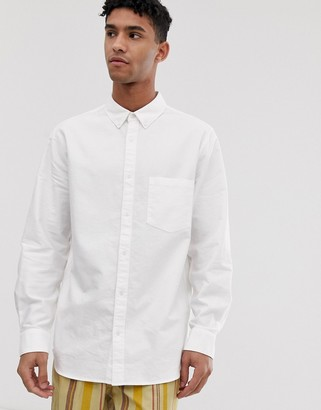 Weekday Henning oxford shirt in white