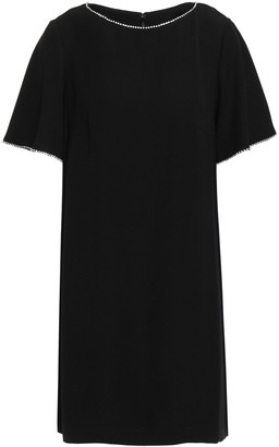 McQ Crystal-embellished Cady Mini Dress