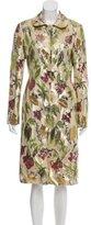 Lela Rose Silk Metallic Coat