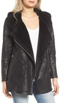 Blank NYC BLANKNYC No Pain Faux Leather Jacket with Faux Fur Lining
