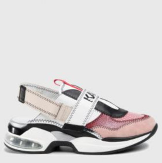 Karl Lagerfeld Paris Pink Mix Ventura Shuttle Stitched Shoes - 36